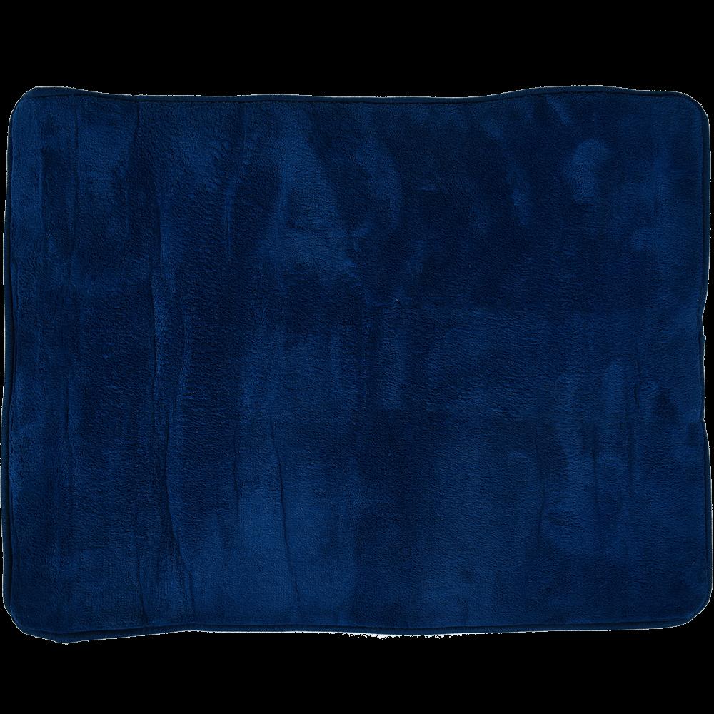 Covoras baie Memory Foarm, poliester, albastru, 50 x 70 cm