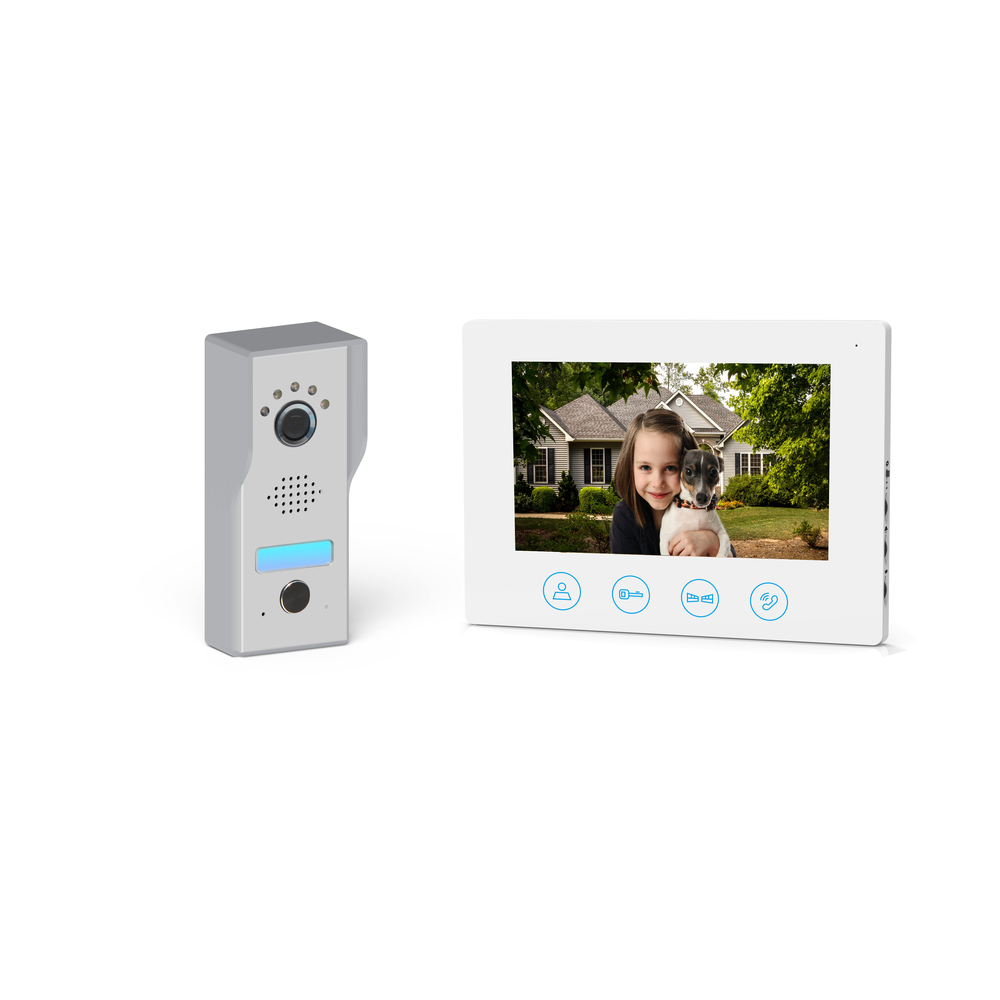 Videointerfon monitor 7 + unitate exterioara + adaptor, 800 x 480 px imagine MatHaus.ro