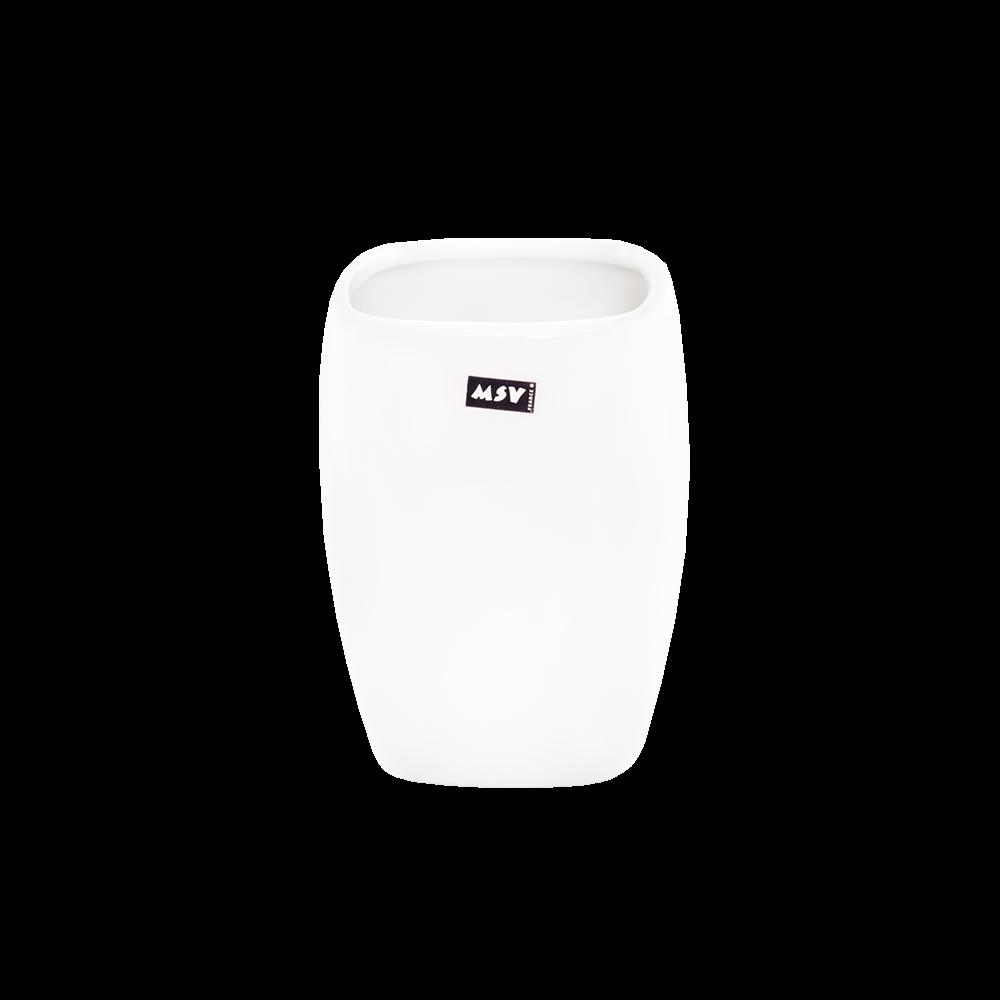 Pahar de baie Romtatay, ceramica, alb, 6 x 2.5 x 38 cm imagine 2021 mathaus