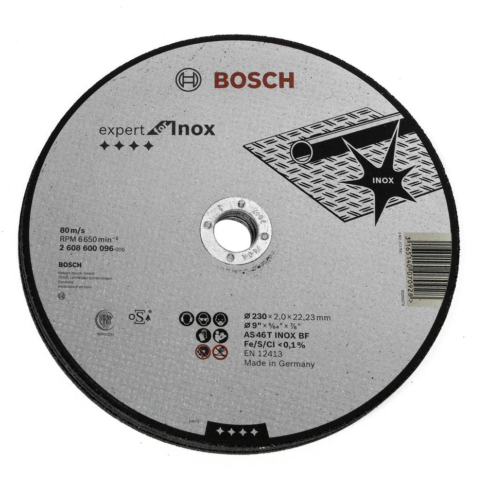 Disc Taiere Drept Inox 2608600096 230 X 22,23 X 2 mm mathaus 2021