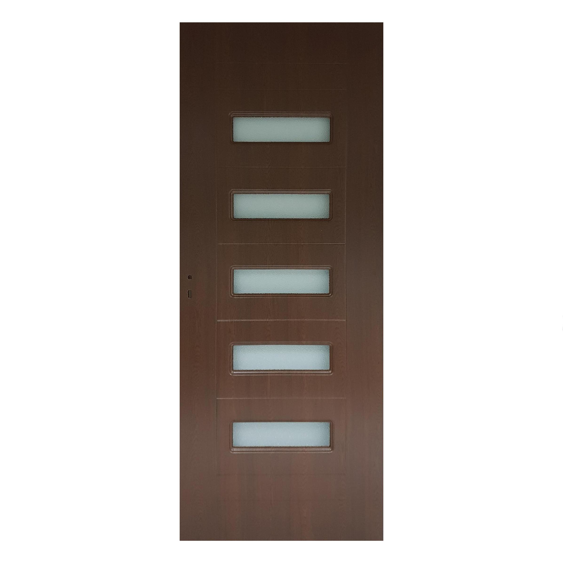Usa interior cu geam Pamate M104, stejar auriu, 203 x 70 x 3,5 cm + toc 10 cm, reversibila mathaus 2021