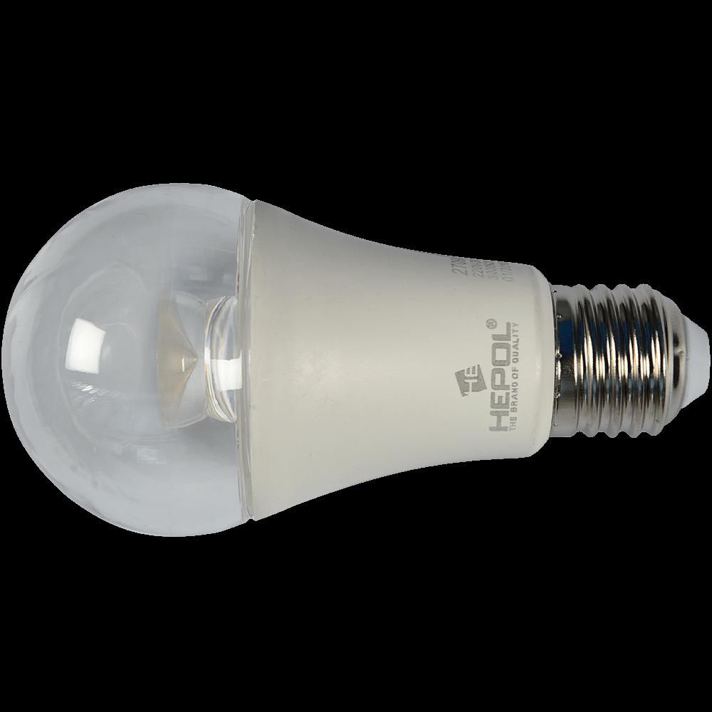 Bec Led Transparent E27 A60 7W Hepol Lumina Calda imagine MatHaus.ro
