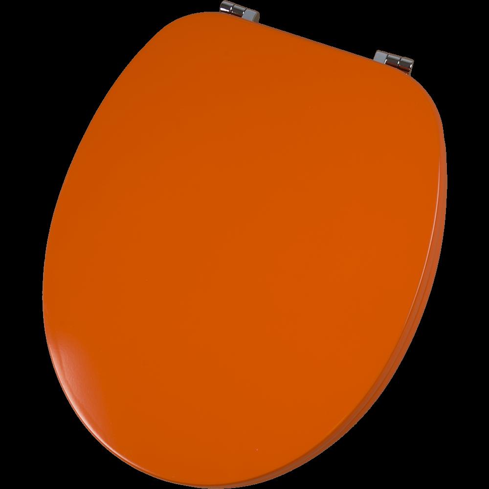 Capac pentru WC Savinidue CWAT28, MDF, portocaliu, balamale metalice