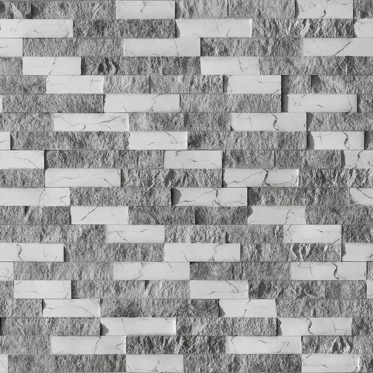 Piatra decorativa Modulo Nora Marble Mix B&W, interior