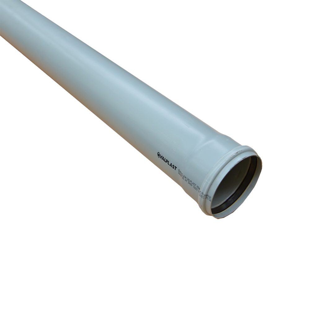 Tub Valplast, PVC, gri, diametru 110 mm, lungime 3 m