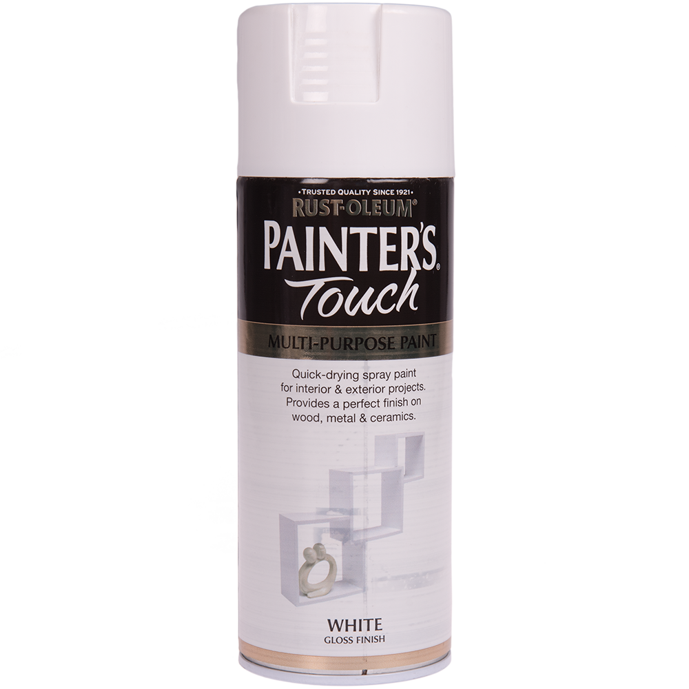 Spray Rust-Oleum Painter`s Touchs, lucios, alb, 400 ml imagine MatHaus