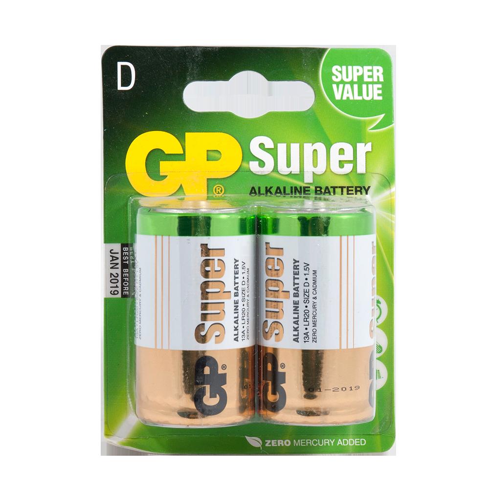 Baterie Alcalina R20 ( D )2 Buc/Blister Super Gp imagine 2021 mathaus