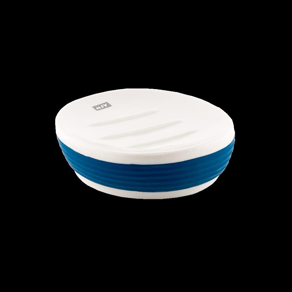 Savoniera Romtatay Moorea, ceramica, alb-albastru, 12.5 x 9 x 3.5 cm mathaus 2021