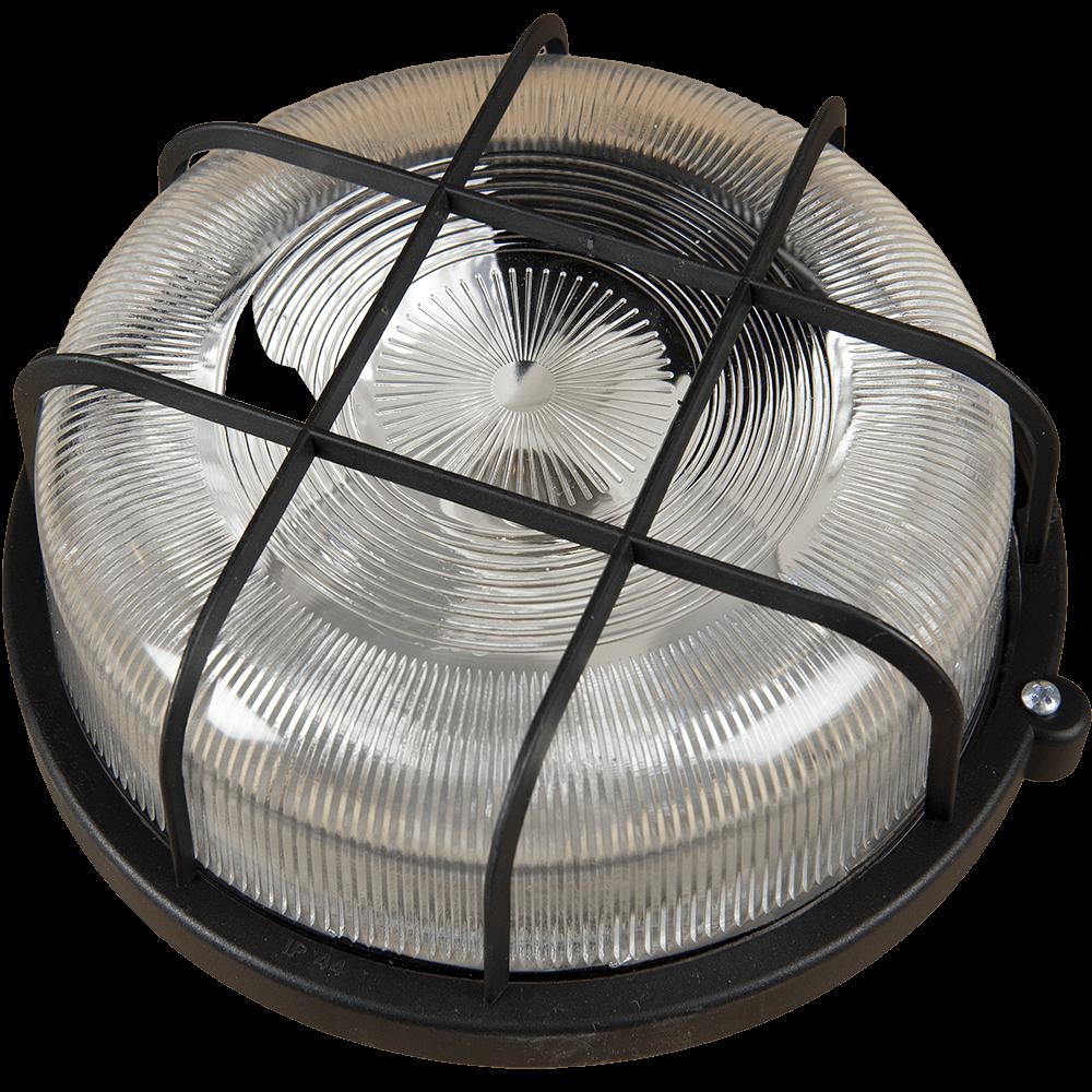 Aplica rotunda cu protectie E27 max 100W IP44 Negru mathaus 2021