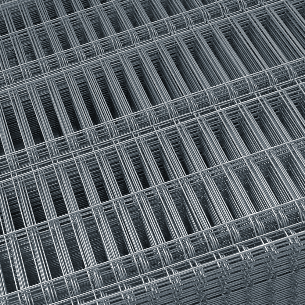 Panou gard plastifiat zincat bordurat gri 4,2x1700x2000 mm imagine MatHaus.ro