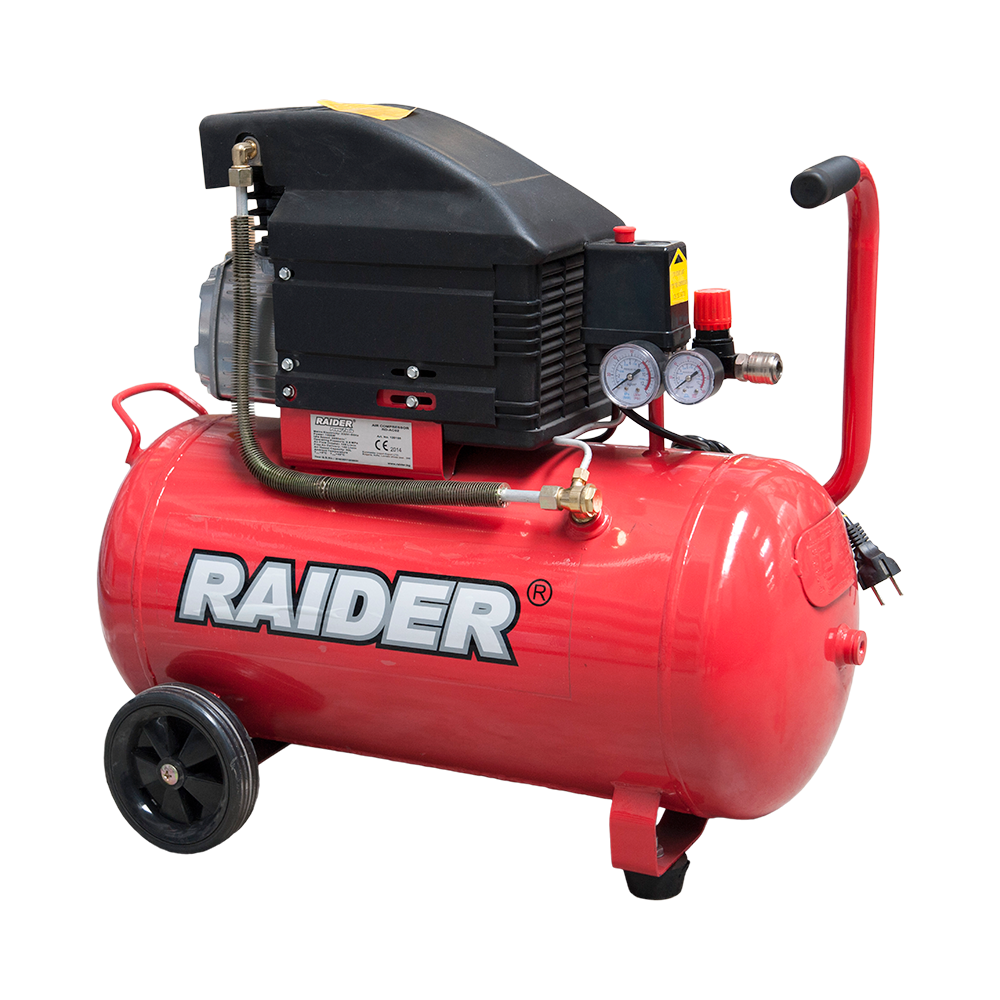 Compresor Raider RD-AC02, 1500 W, 8 bari, 50 l imagine 2021 mathaus