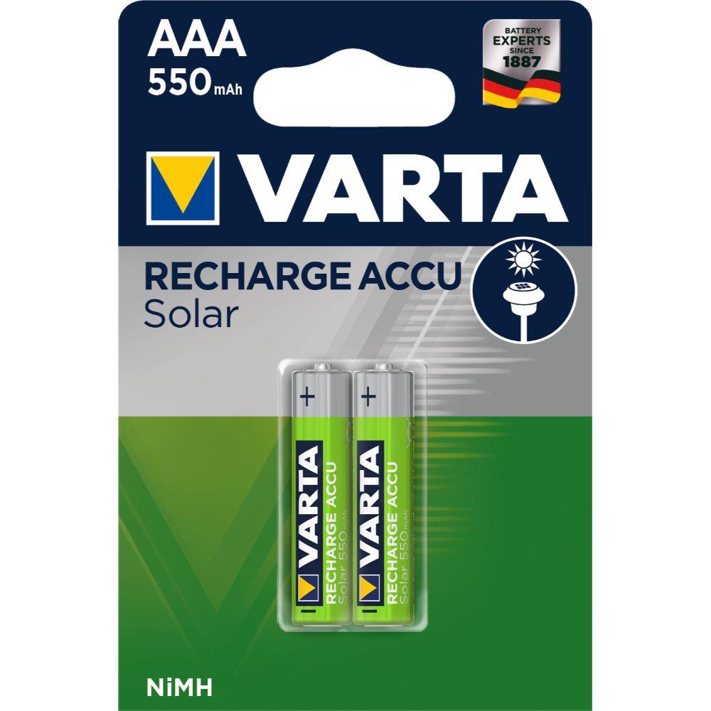 Acumulator solar Varta AAA, NiMh 550 mAh, 2 bucati