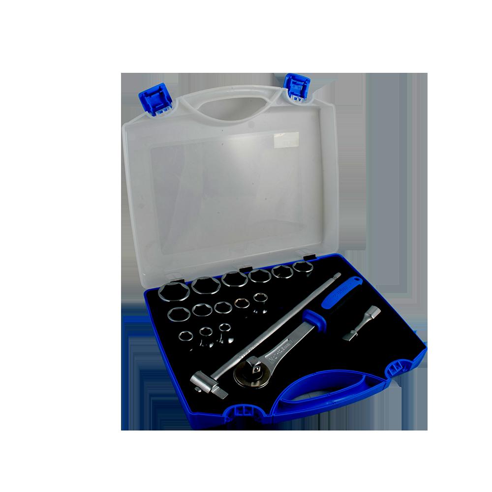 Trusa capete chei tubulare Unior, 1/2 10-32/17 pcs, cutie plastic imagine 2021 mathaus