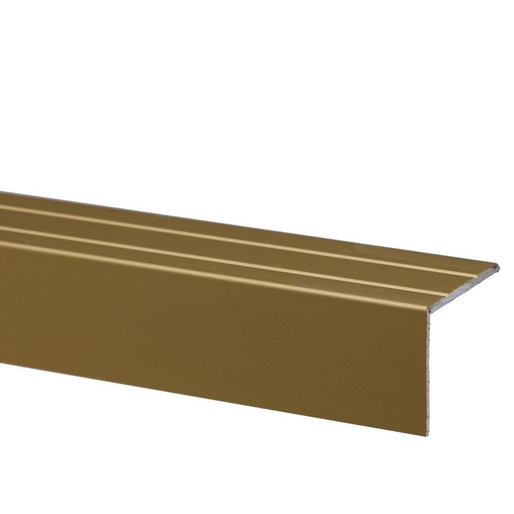 Profil pentru treapta cu surub S45, Set Prod, 25 mm, auriu, 1 m imagine 2021 mathaus