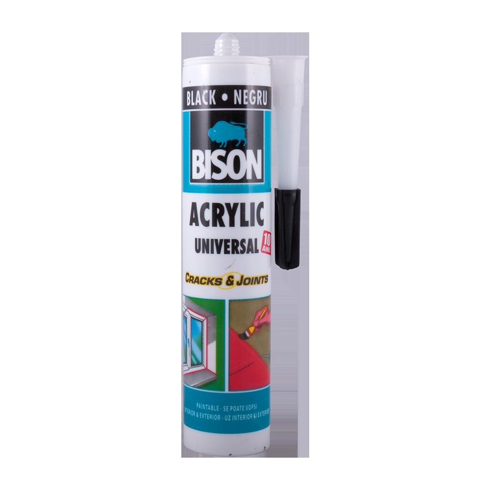Silicon Acril Bison negru 300 ml imagine MatHaus.ro