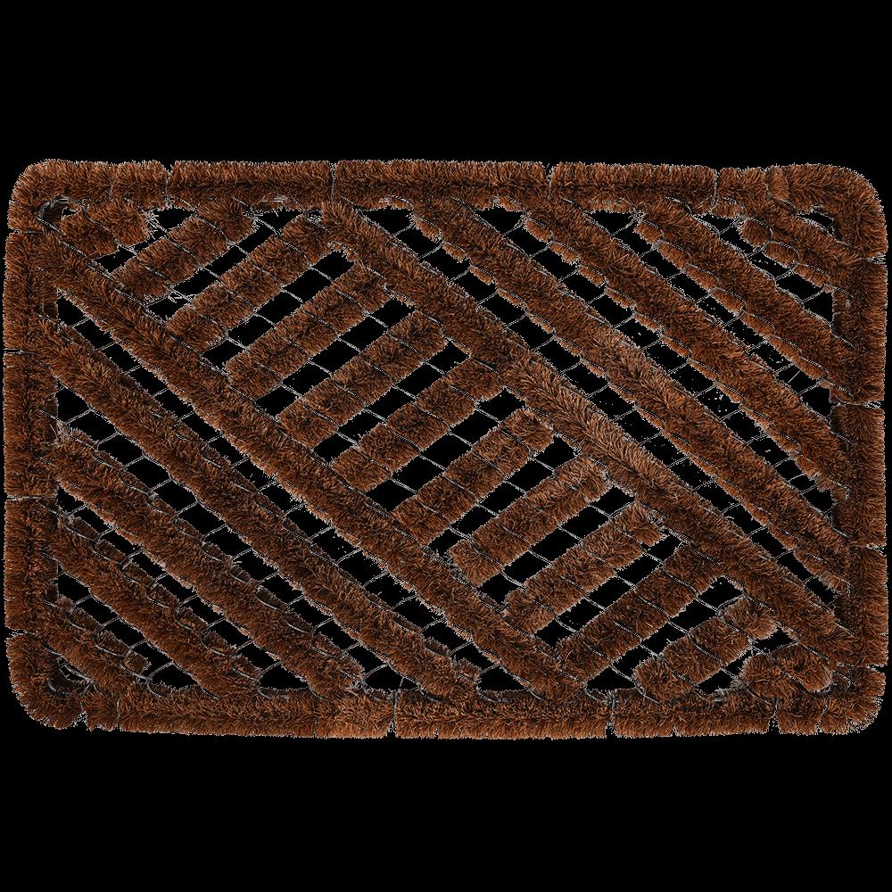 Stergator intrare dreptunghiular Cocofer, model cu cavitati, fibra de nuca de cocos, maro, 40 x 60 cm mathaus 2021