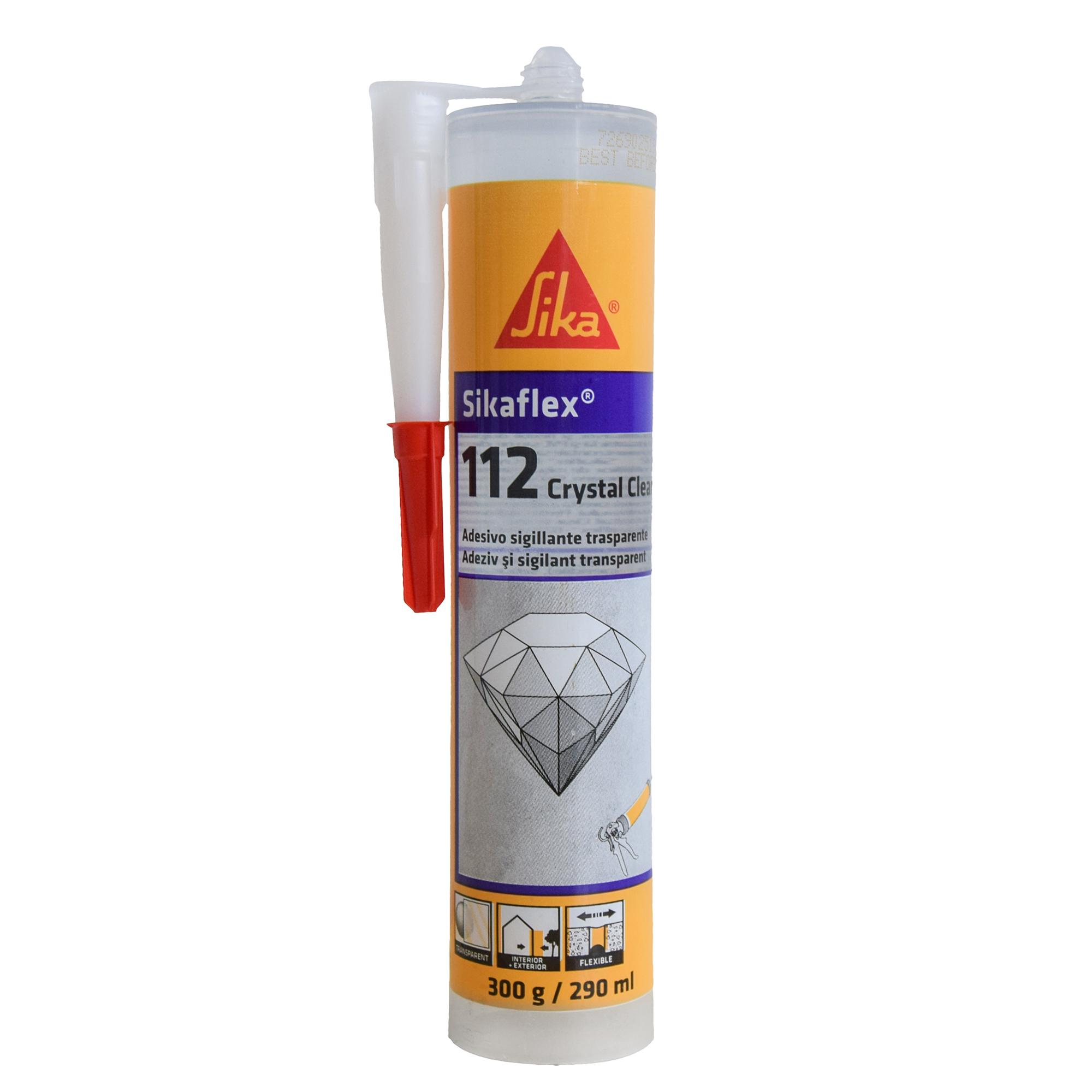 Adeziv pentru suprafete multiple Sikaflex® 112 Crystal Clear 290 ml