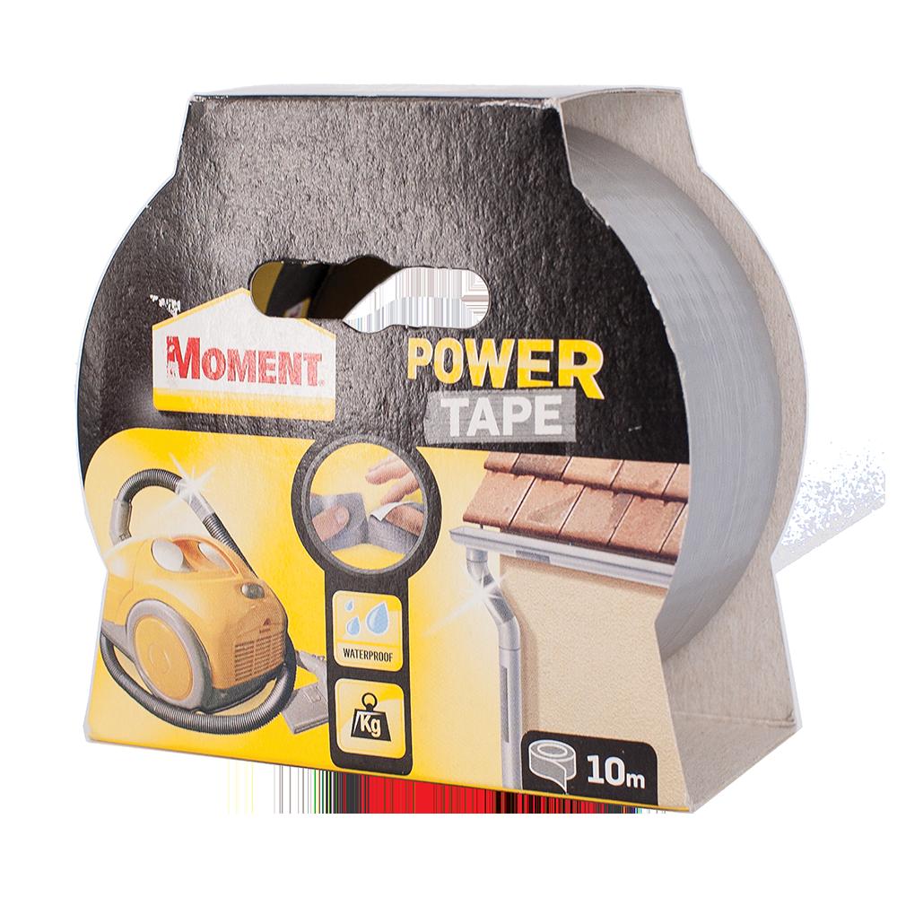 Banda adeziva universala Moment Power Tape, 50 mm x 10 m, argintie