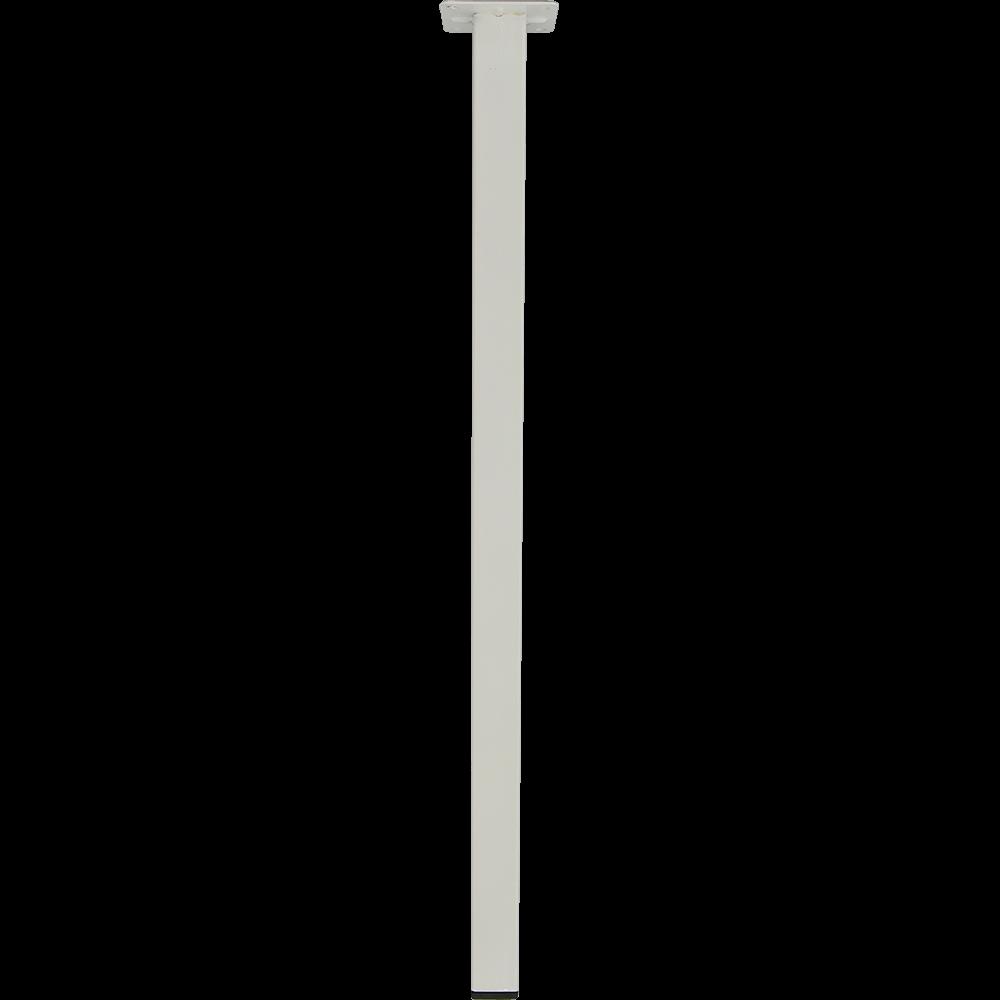 Picior patrat pentru masa, metal, alb, 400 mm imagine 2021 mathaus