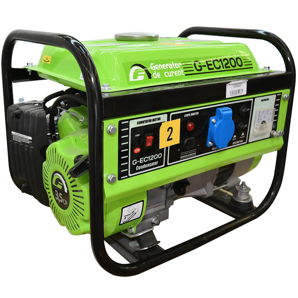 Generator de curent portabil monofazat Greenfield G-EC1200,  1100 W, 4 timpi, 6 l imagine 2021 mathaus