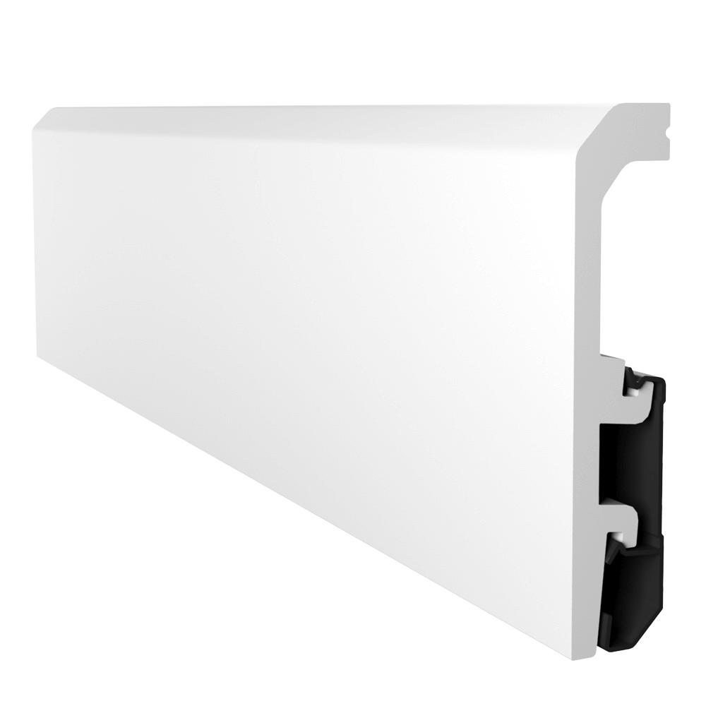 Plinta podea, duropolimer, alb, Vega P1010, 2400x100x20 mm imagine MatHaus