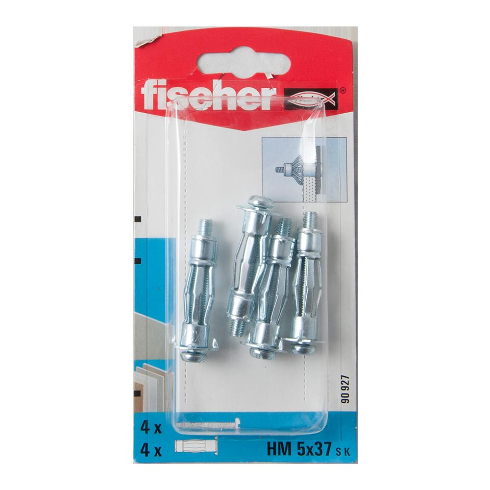 Diblu din metal cu surub, Fischer HM, 5 x 37 mm, 5 x 43 mm, 4 buc mathaus 2021