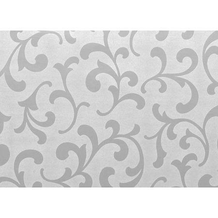Folie autocolanta structurata 14-5035, model floral in relief, argintiu, 0.45 x 15 m