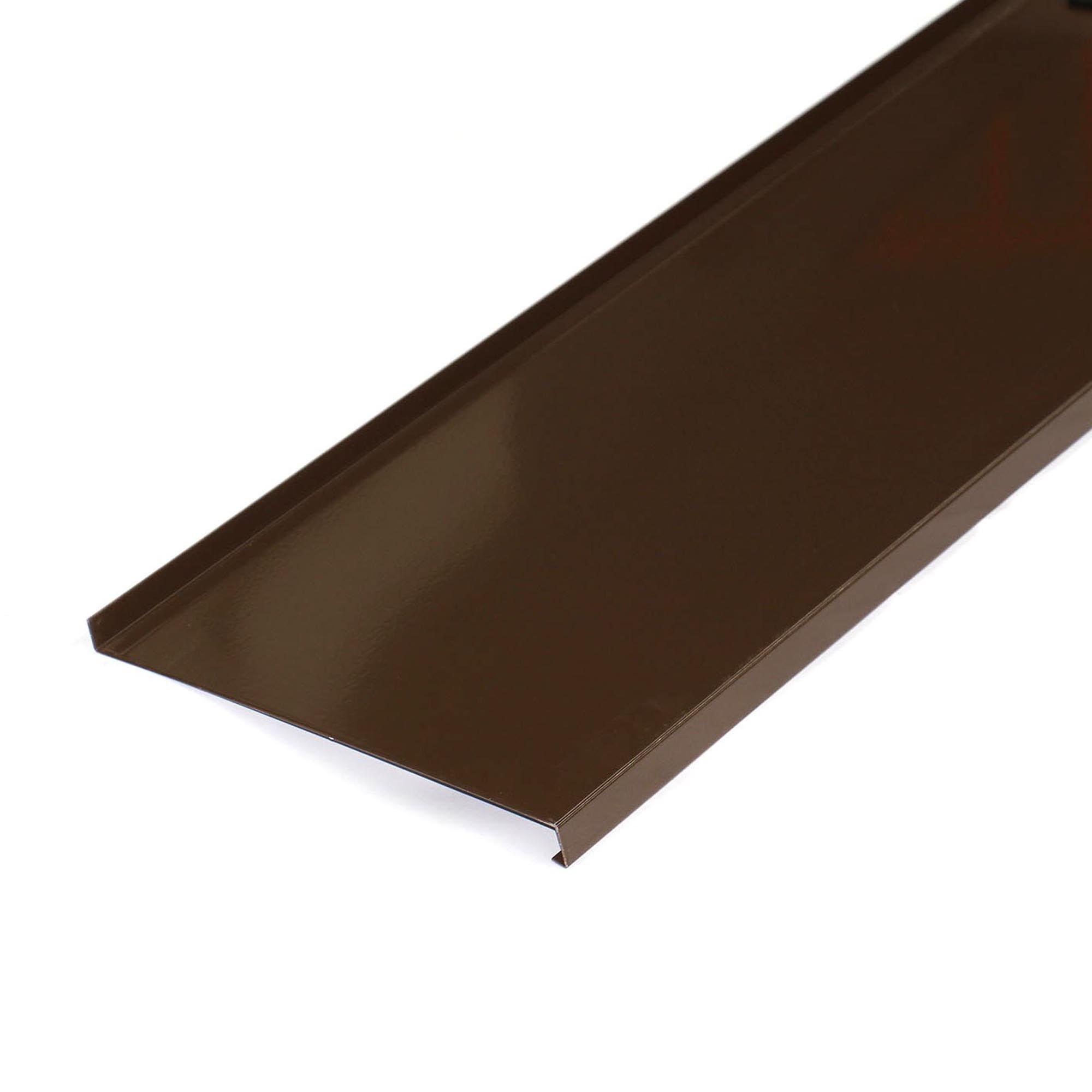 Glaf din aluminiu, maro ciocolatiu mat RAL 8017, 300 x 21 cm imagine MatHaus
