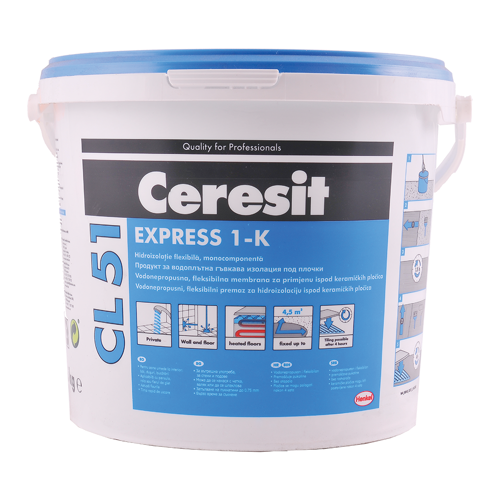 Hidroizolatie flexibila Ceresit CL 51, impermeabila, 5 kg