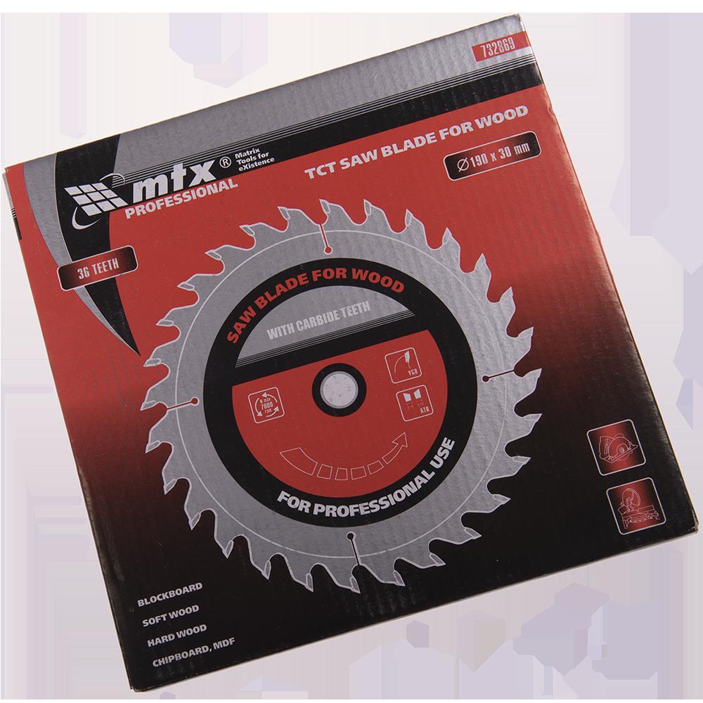 Disc Lemn 190 X 30 mm 36 Dinti Mtx Prof
