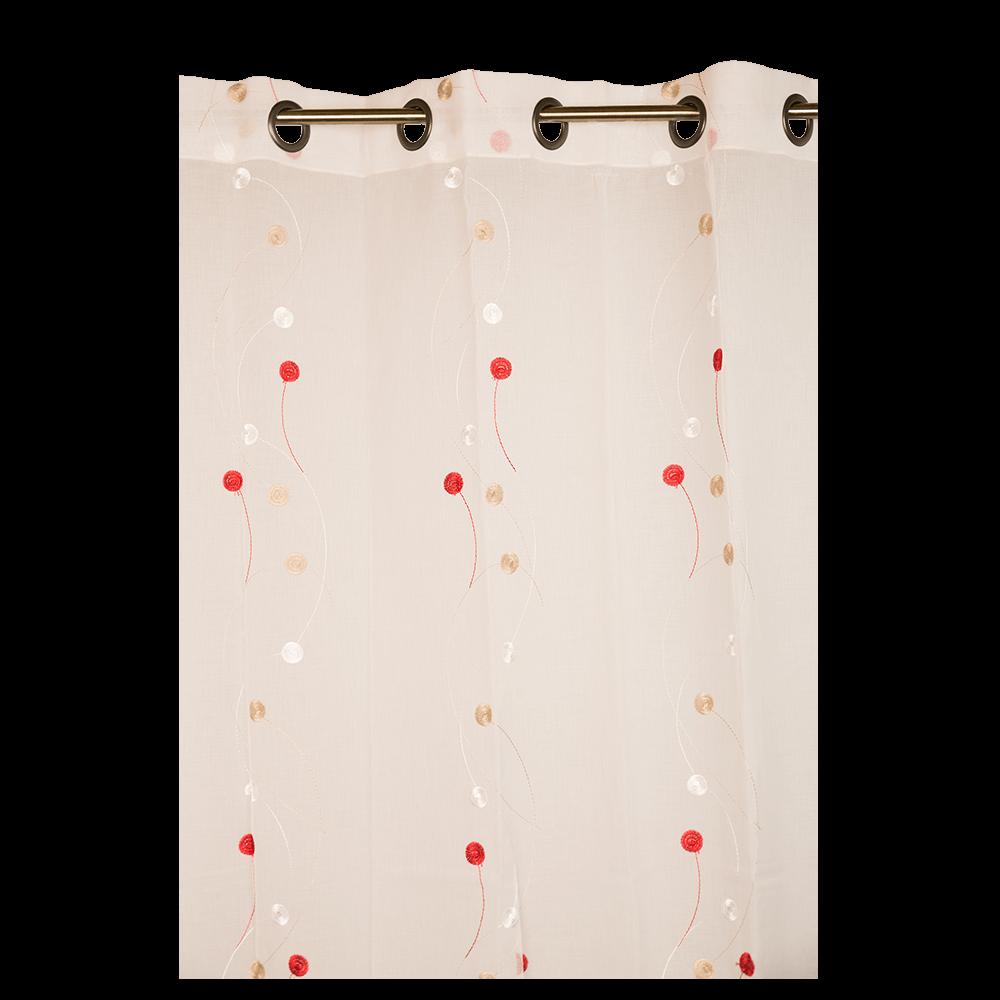 Perdea Orion rosu/crem, 145 x 260 cm mathaus 2021