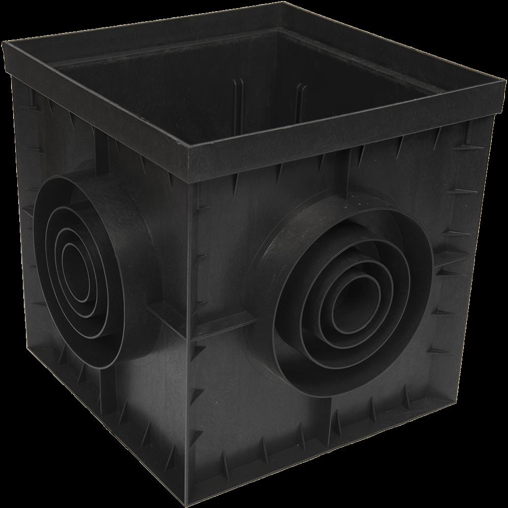 Camin PolyMax Basic, polipropilena, 300 x 300 mm, negru