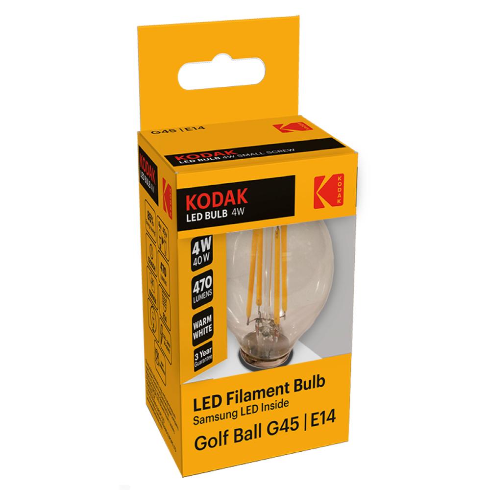 Bec LED Kodak G45, glob, E14, 4W, 470 lm, lumina calda 2700-3000K mathaus 2021
