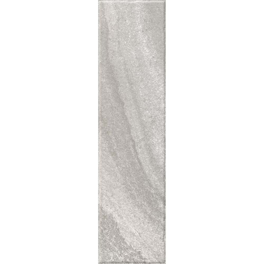 Gresie portelanata  Kai Ceramics Santana mix gri mat, dreptunghiulara, aspect de piatra, 15,5 x 60,5 cm