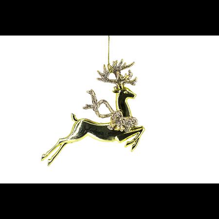 Decoratiune de Craciun cerb, plastic 13 x 10,5 cm