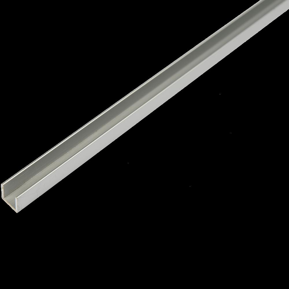 Profil din aluminiu tip U,  12 x 13,5 x 1,3 mm, 2 m imagine 2021 mathaus