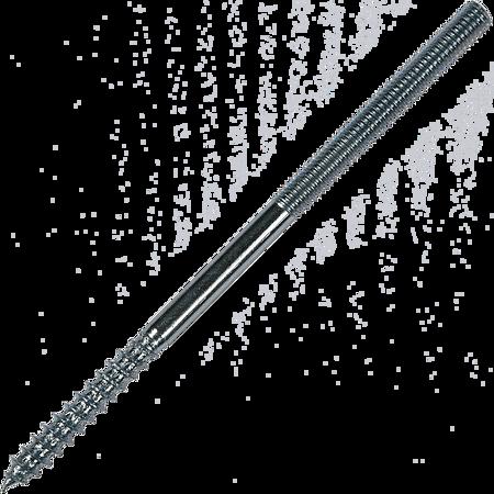 Prezon pentru lemn si metal, otel zincat, M8 x 60 mm, L35/M20