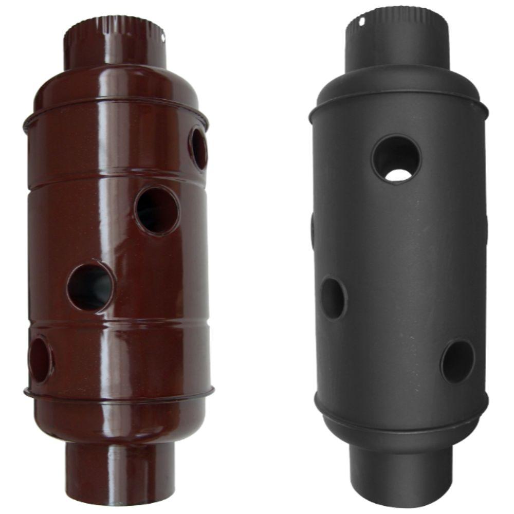 Recuperator caldura emailat compact, negru mat, D: 120 mm imagine MatHaus.ro