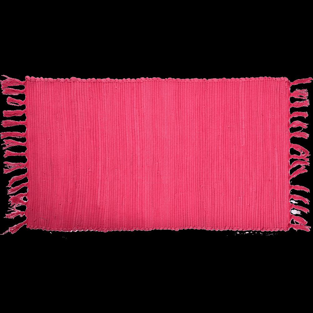 Covor tesut Mexican, roz, 100% bumbac, 50 x 90 cm imagine MatHaus.ro
