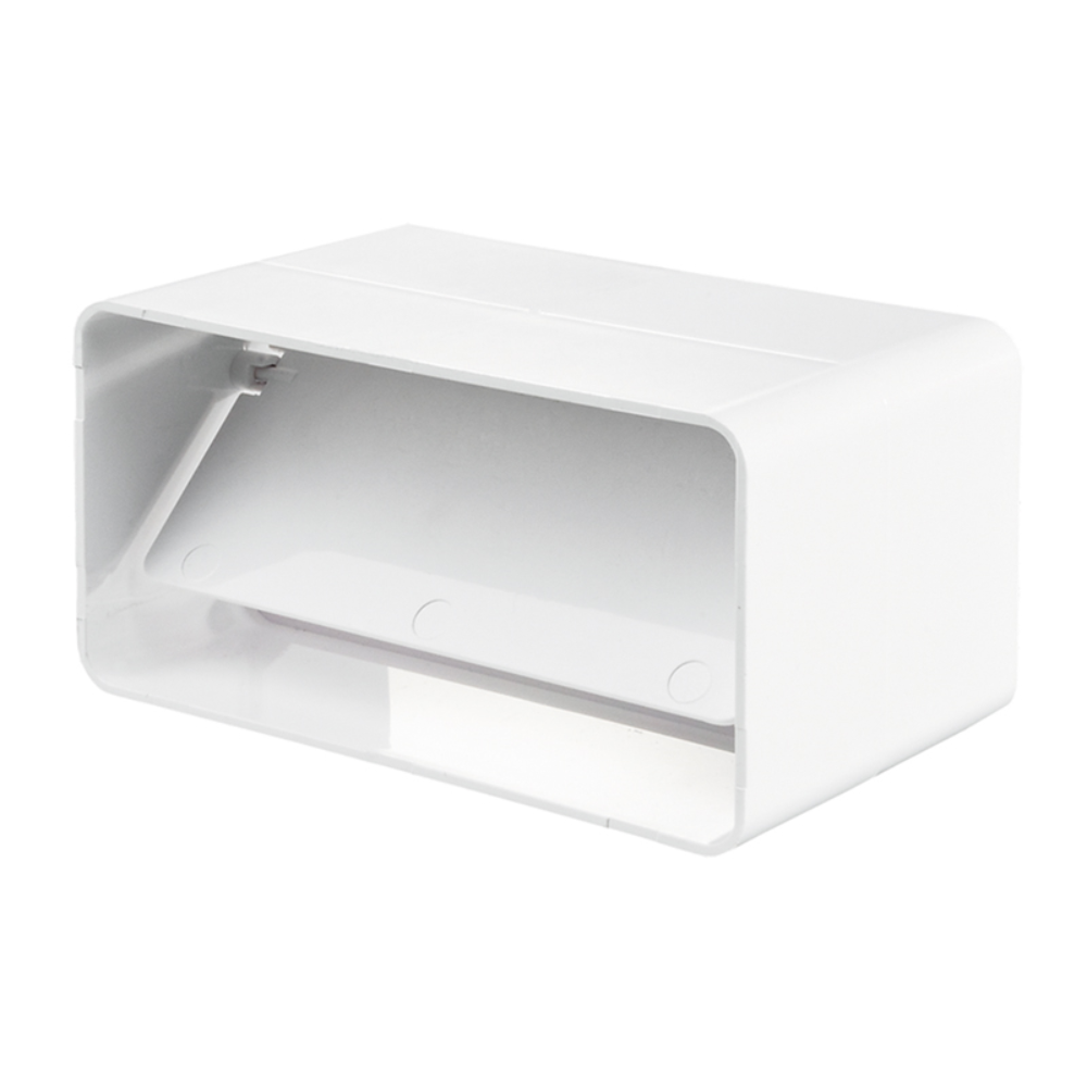 Conector rectangular, 60 x 204 mm, clapeta antiretur, PVC, alb mathaus 2021