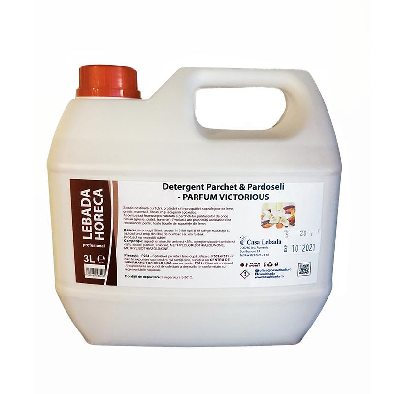 Detergent pentru parchet si pardoseli Lebada, parfum victorious, 3 l imagine 2021 mathaus