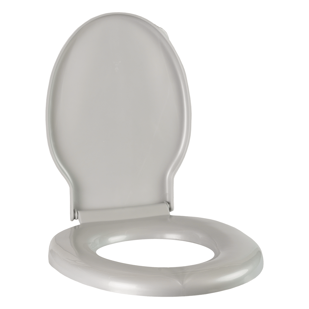 Capac WC Unic, polipropilena, gri metalizat, 48x39x60 cm