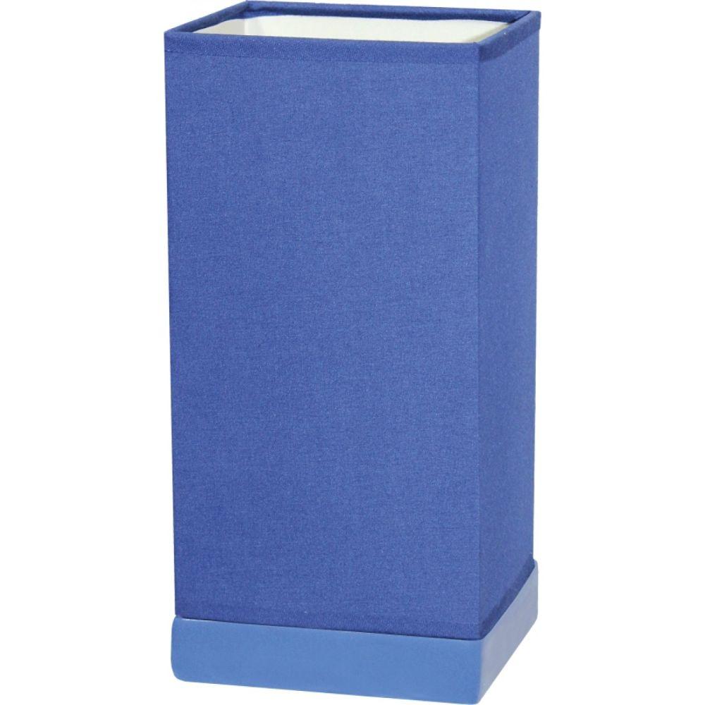 Veioza Kevin KL 0520, ceramica albastra, textil, 1 x E14, 4W, 240 mm imagine 2021 mathaus