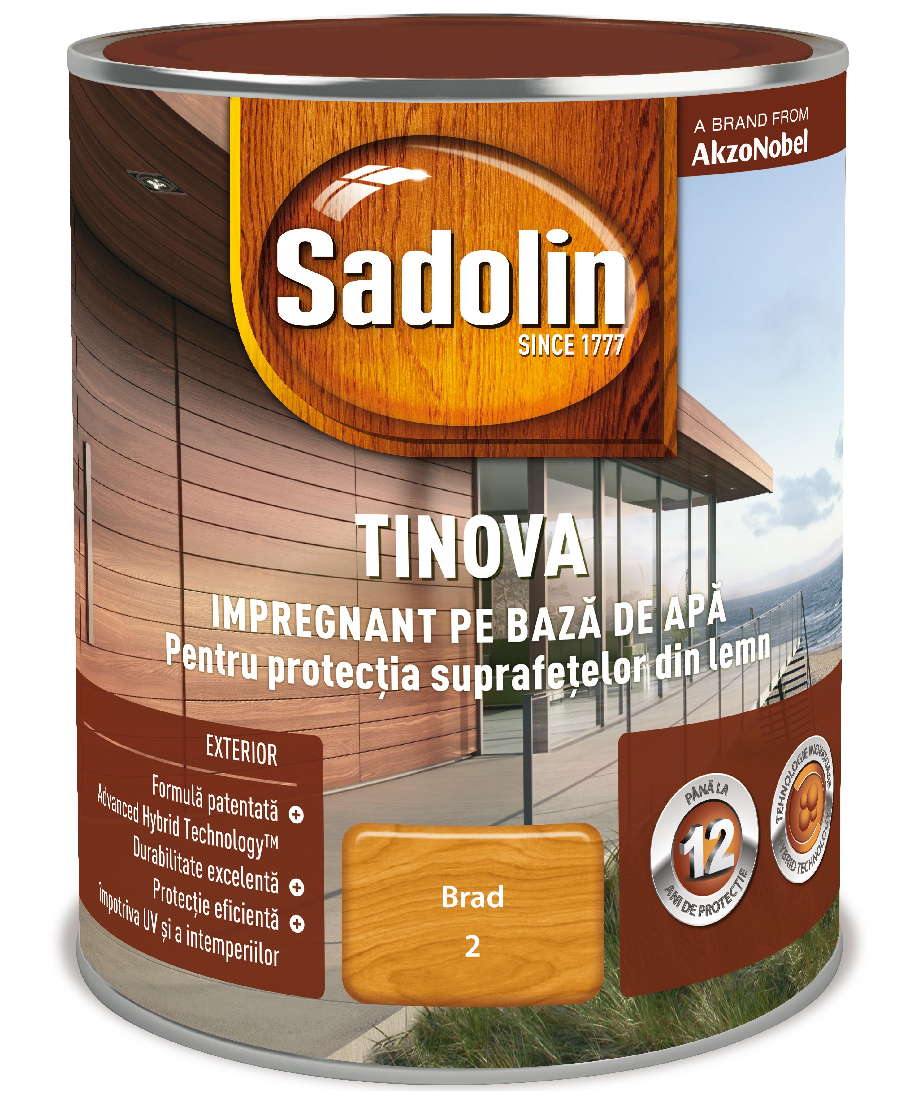 Impregnant pe baza de apa, Sadolin Tinova, pentru lemn, brad, 5 l mathaus 2021