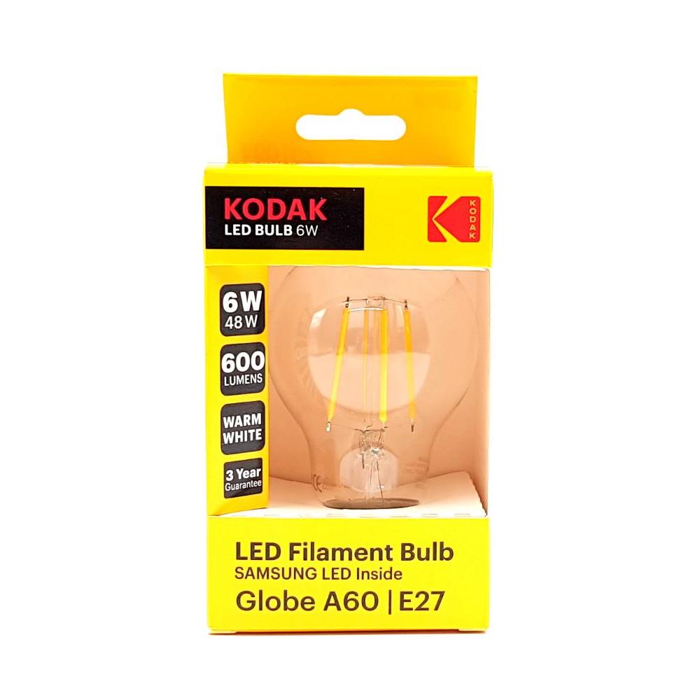 Bec LED Kodak A60, glob, E27, 6W, 600 lm, lumina calda 2700-3000K mathaus 2021