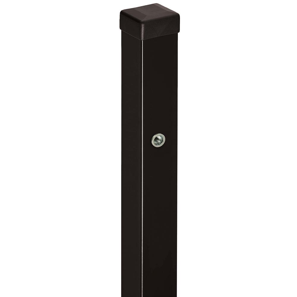 Stalp pentru poarta Tina, otel, negru jet black RAL9005, 200 x 7 x 7 cm imagine MatHaus