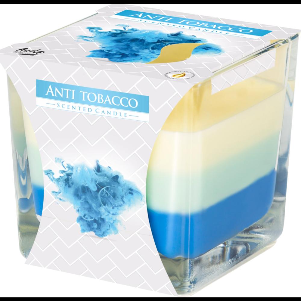 Lumanare parfumata Bispol, pahar transparent, Anti-Tabac, 80 x 80 mm imagine 2021 mathaus