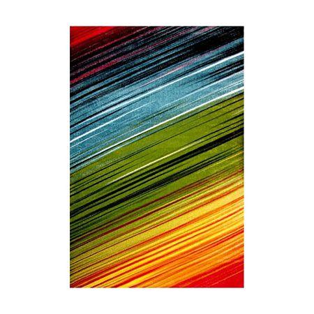 Covor modern Kolibri 11009/130, 100% polipropilena friese, model curcubeu, 80 x 150 cm