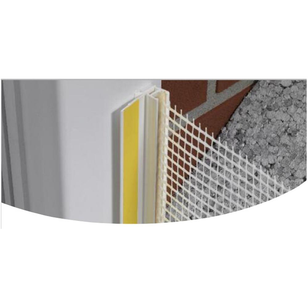 Profil de colt, PVC, plasa fibra de sticla, 100 x 2500 mm