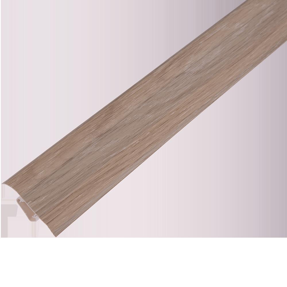 Plinta parchet, cu canal dublu, PVC, stejar nisip, 2500 mm imagine MatHaus